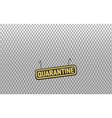 quarantine foreground vector image