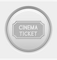 round white button cinema ticket icon vector image vector image