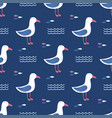 seamless pattern gull vector image