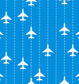 Seamless Pattern with Airplanes Bakground vector image vector image