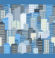 seamless urban landscape city background vector image