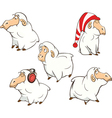 set of cute cartoon sheep vector image vector image
