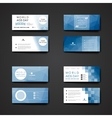 Set of modern design banner template in World AIDS vector image vector image
