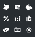 set of stock exchange icons vector image