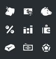 set stock exchange icons vector image vector image