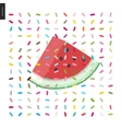 Skice of watermelon vector image vector image