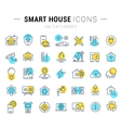 Smart House Line Icons 7 vector image