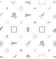song icons pattern seamless white background vector image vector image
