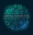 startup round colored on dark vector image
