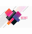 stylish geometric vibrant shapes with pattern vector image vector image