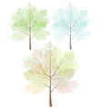Stylized trees set vector image