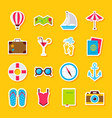 summer time stickers vector image vector image
