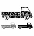 truck mosaic icon unequal items vector image vector image