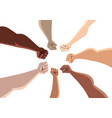 unity people on white vector image vector image