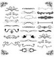 vintage victorian design elements vector image vector image