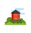 water tower farm building countryside life vector image