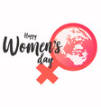 women day symbol vector image vector image