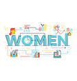 women word in business concept vector image