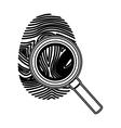 Isolated fingerprint design vector image