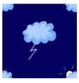 Lightning seamless pattern vector image