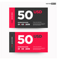 50 usd gift card template vector image