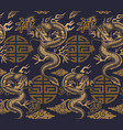 a seamless background in asian style vector image
