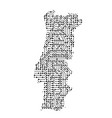 abstract schematic map of portugal from the black vector image vector image