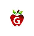 apple letter g logo design template vector image vector image