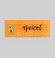 apricot sticker and eco products apricot web vector image vector image