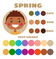 best colors for spring type children appearanc vector image vector image
