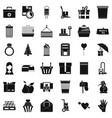 big box icons set simple style vector image