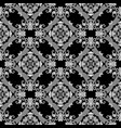 black and white ornamental greek seamless vector image vector image