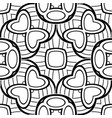 black and white seamless pattern with mosaic motif vector image vector image