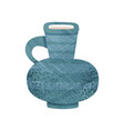 blue jug with narrow neck and small handle large vector image vector image