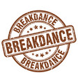 breakdance stamp vector image vector image