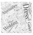 Bridal Accessories For A Tropical Wedding Word vector image vector image