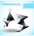 business diagram template with text field vector image vector image