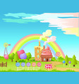 candy factory fairy cartoon flat concept vector image