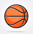 cartoon stylized basketball vector image vector image