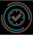 check mark clock icon time vector image