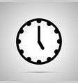clock face showing 5-00 simple black icon vector image vector image