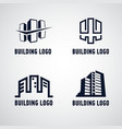 collection of building signs and icons vector image