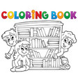 coloring book pupil theme 2 vector image vector image