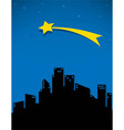comet and stars for the city vector image