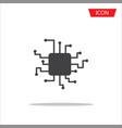 cpu icon central processing unit icon vector image