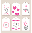Decorative badges for Valentines day vector image vector image