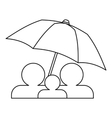 Family insurance concept icon outline style vector image vector image