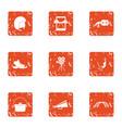 film marathon icons set grunge style vector image vector image