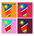 flag map of namibia vector image vector image