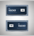 gift voucher with white blue pattern design vector image vector image